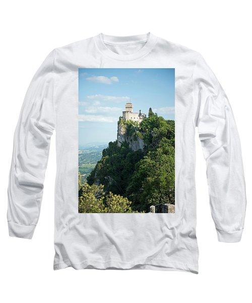 Long Sleeve T-Shirt featuring the photograph San Marino - Guaita Castle Fortress by Joseph Hendrix
