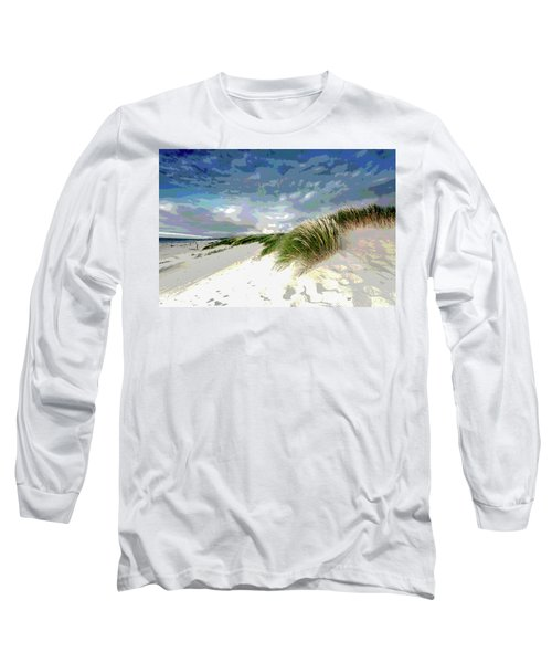 Sand And Surfing Long Sleeve T-Shirt by Charles Shoup