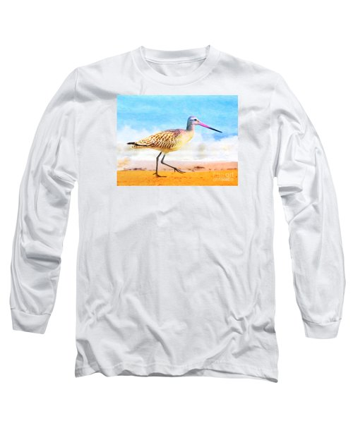 Long Sleeve T-Shirt featuring the painting Sand Between My Toes ... by Chris Armytage