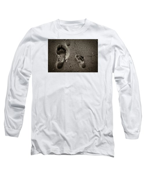 Long Sleeve T-Shirt featuring the photograph Sand Feet by Lora Lee Chapman