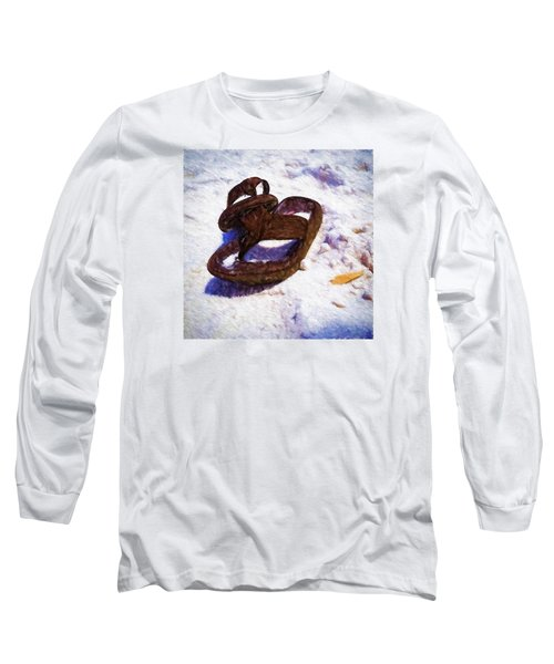 Sandals In The Sand Long Sleeve T-Shirt by Rena Trepanier