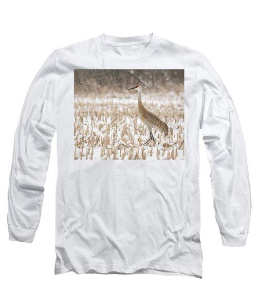 Sandhill Crane 2016-3 Long Sleeve T-Shirt