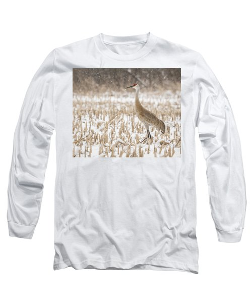 Sandhill Crane 2016-3 Long Sleeve T-Shirt