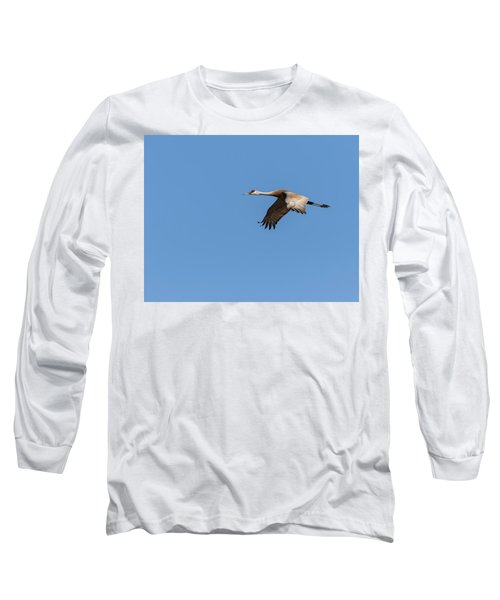 Long Sleeve T-Shirt featuring the photograph Sandhill Crane 2017-1 by Thomas Young
