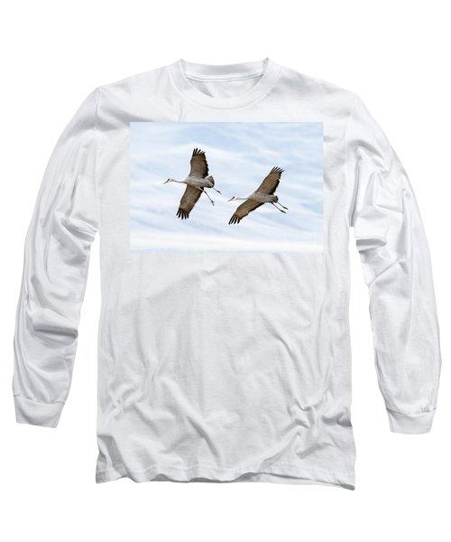 Sandhill Crane Approach Long Sleeve T-Shirt