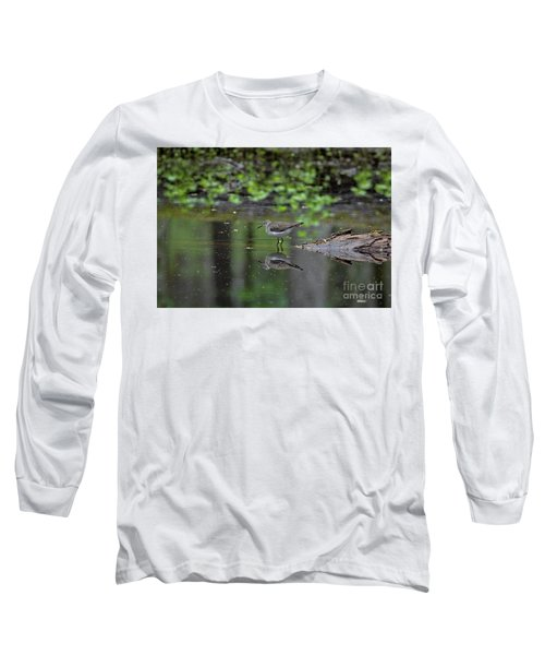 Sandpiper In The Smokies II Long Sleeve T-Shirt by Douglas Stucky