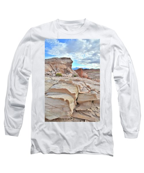 Sandstone Staircase In Valley Of Fire Long Sleeve T-Shirt by Ray Mathis