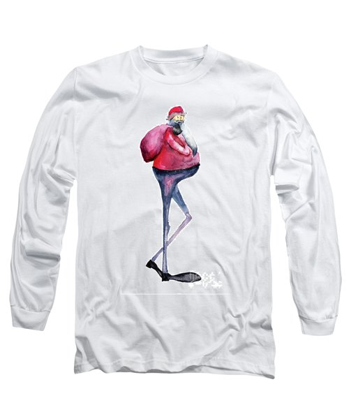 Santa Claus, Watercolor Illustration Long Sleeve T-Shirt