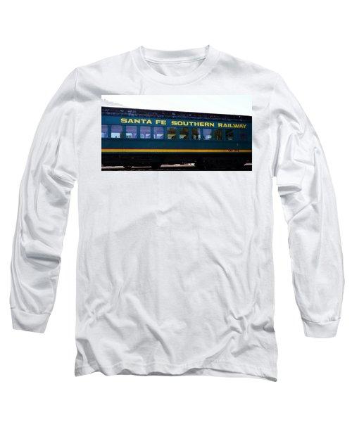 Santa Fe Train Long Sleeve T-Shirt by Joseph Frank Baraba