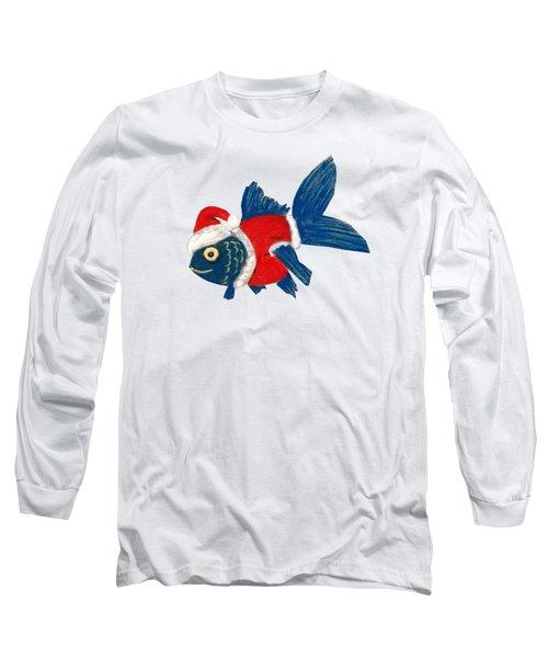 Santa Fish Long Sleeve T-Shirt