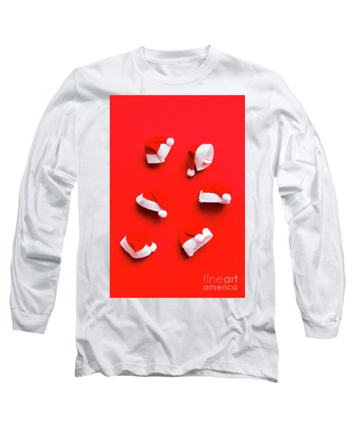 Santa Hat Party Long Sleeve T-Shirt
