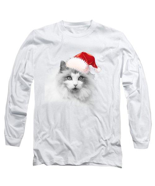 Santa Kitty Long Sleeve T-Shirt