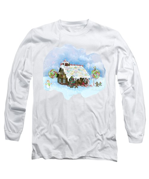 Santa Loves Cookies Long Sleeve T-Shirt by Methune Hively