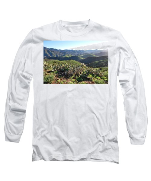 Santa Monica Mountains - Hills And Cactus Long Sleeve T-Shirt