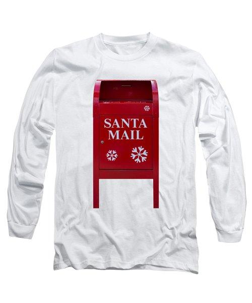 Santa Red Mail Box Long Sleeve T-Shirt