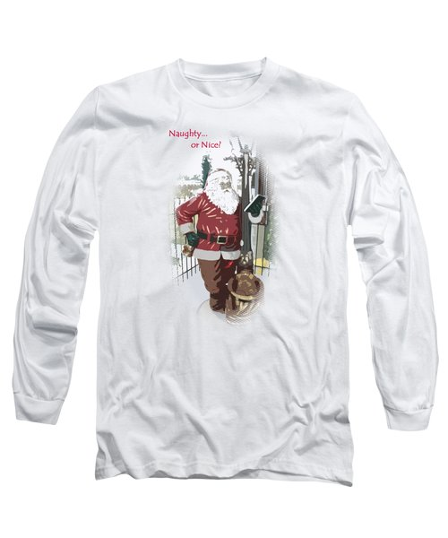 Long Sleeve T-Shirt featuring the photograph Santa's Checklist by Ellen Barron O'Reilly