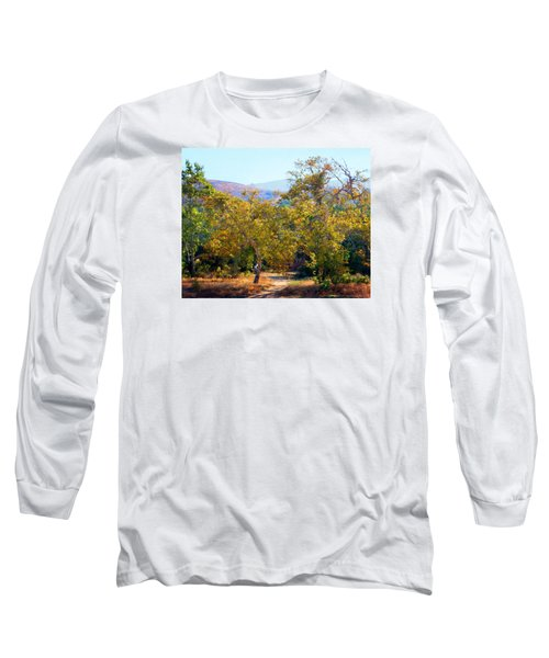 Long Sleeve T-Shirt featuring the photograph Santiago Creek Trail by Timothy Bulone