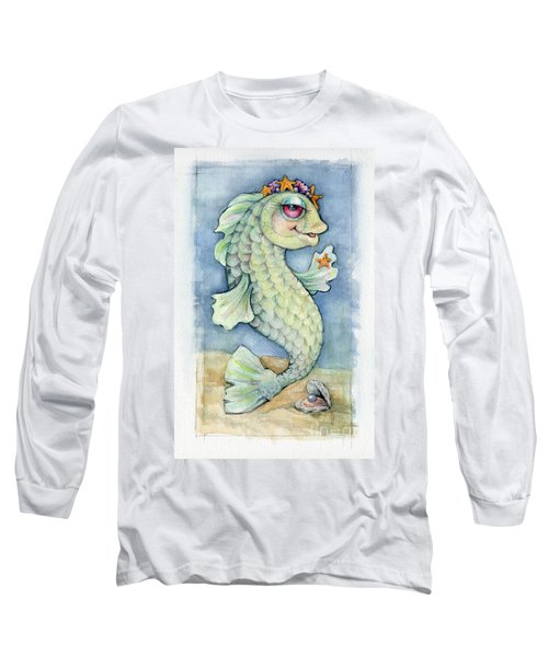 Long Sleeve T-Shirt featuring the painting Sarafina Seabling by Lora Serra