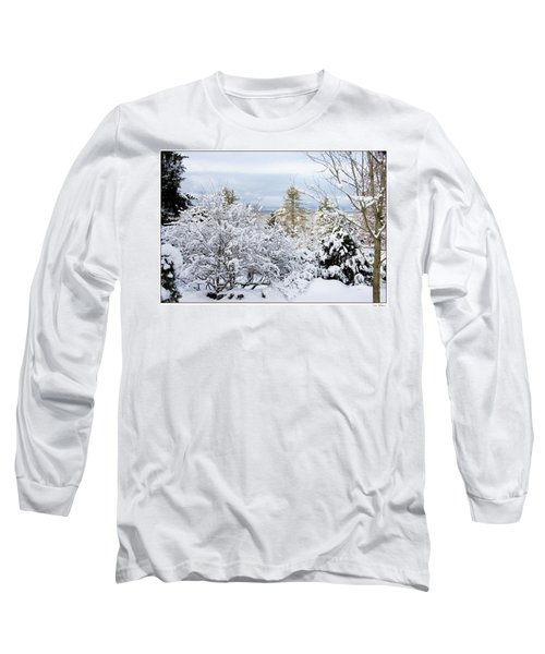 Long Sleeve T-Shirt featuring the photograph Saratoga Winter Scene by Lise Winne
