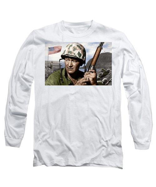 Sargent Stryker U S M C  Iwo Jima Long Sleeve T-Shirt
