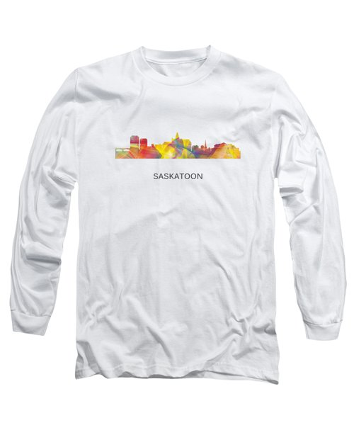 Saskatoon Sask.skyline Long Sleeve T-Shirt by Marlene Watson