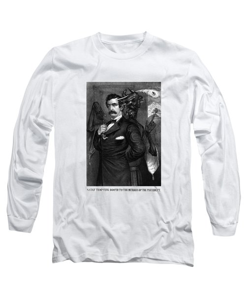 Satan Tempting John Wilkes Booth Long Sleeve T-Shirt