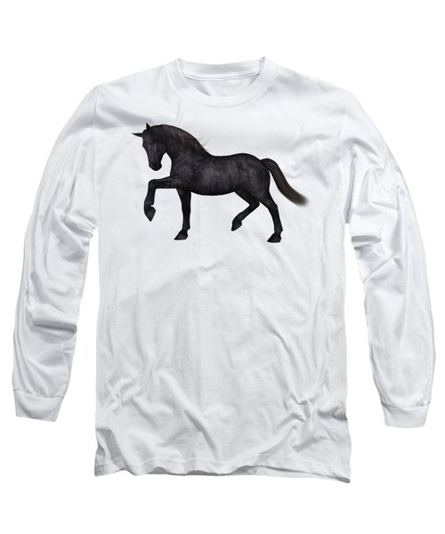 Satin Long Sleeve T-Shirt