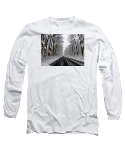 Saturday First Snow Of 2015 Long Sleeve T-Shirt by Tina M Wenger