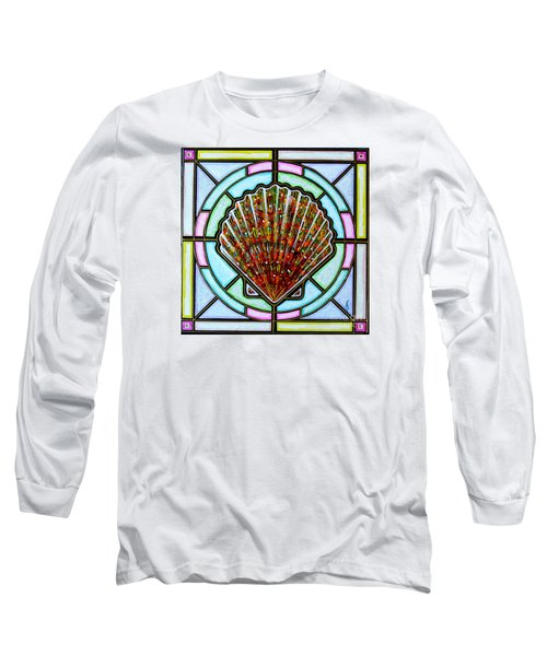 Long Sleeve T-Shirt featuring the painting Scallop Shell 1 by Jim Harris