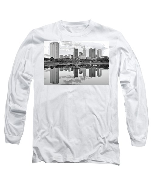 Long Sleeve T-Shirt featuring the photograph Scarlet And Columbus Gray by Frozen in Time Fine Art Photography