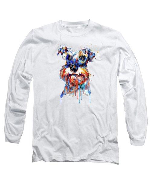 Schnauzer Head Long Sleeve T-Shirt