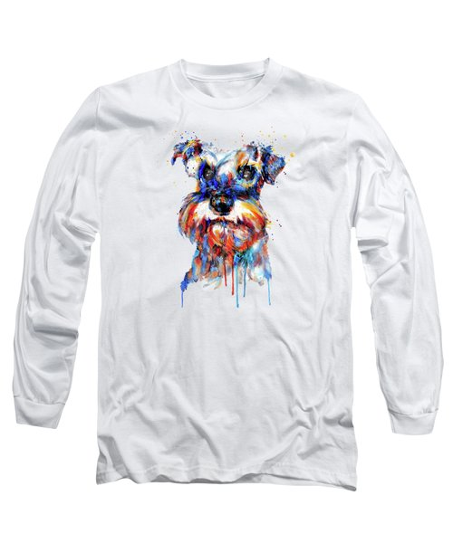 Schnauzer Head Long Sleeve T-Shirt