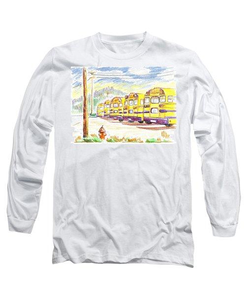 School Bussiness Long Sleeve T-Shirt by Kip DeVore