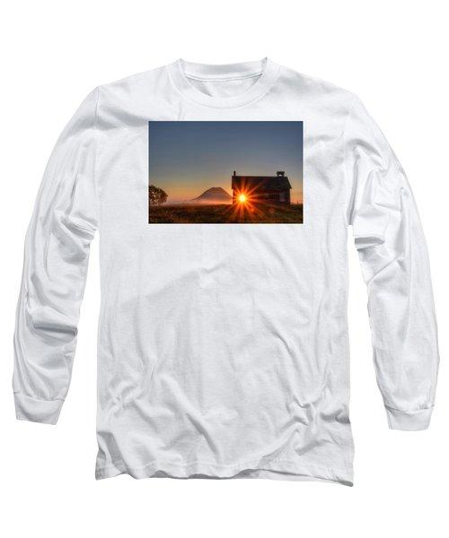 Schoolhouse Sunburst Long Sleeve T-Shirt by Fiskr Larsen