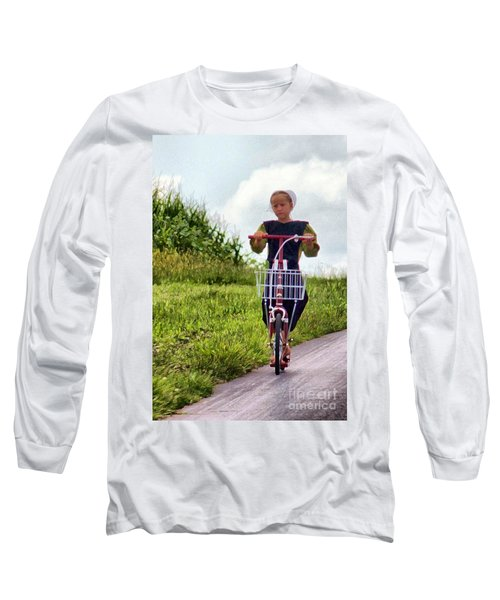 Scootin' Long Sleeve T-Shirt by Polly Peacock