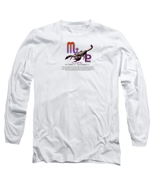 Scorpio Sun Sign Long Sleeve T-Shirt by Shelley Overton