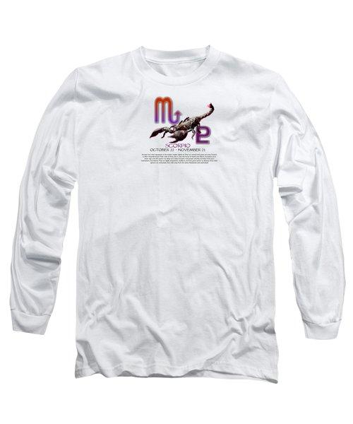 Scorpio Sun Sign Long Sleeve T-Shirt
