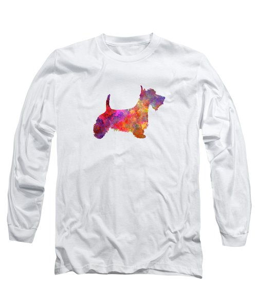 Scottish Terrier In Watercolor Long Sleeve T-Shirt