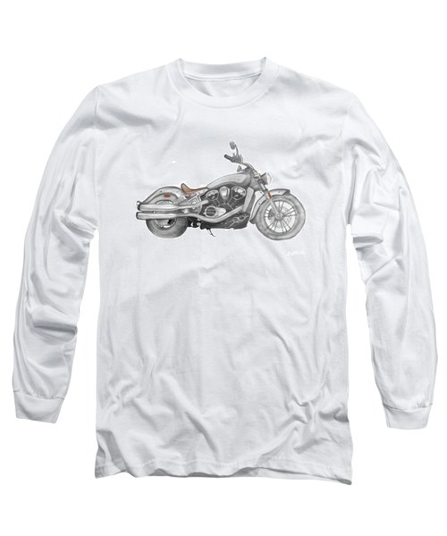 Long Sleeve T-Shirt featuring the drawing Scout 2015 by Terry Frederick