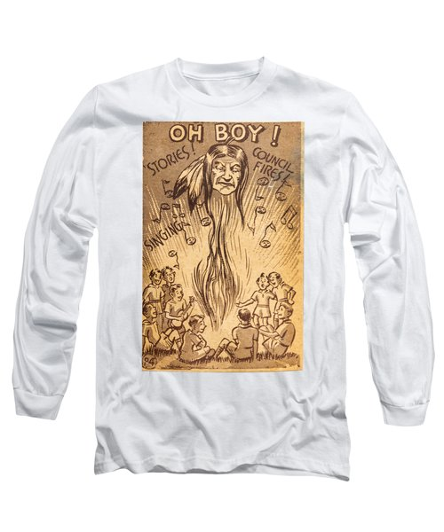 Scouting Postcard 1948 Long Sleeve T-Shirt by Thomas Young