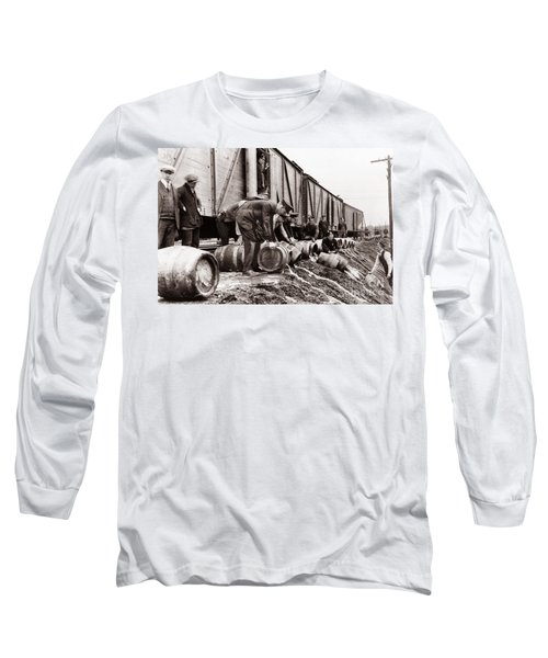 Scranton Police Dumping Beer During Prohibition  Scranton Pa 1920 To 1933 Long Sleeve T-Shirt