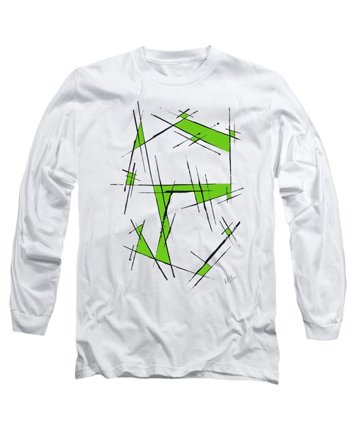 Scratched With Green Long Sleeve T-Shirt