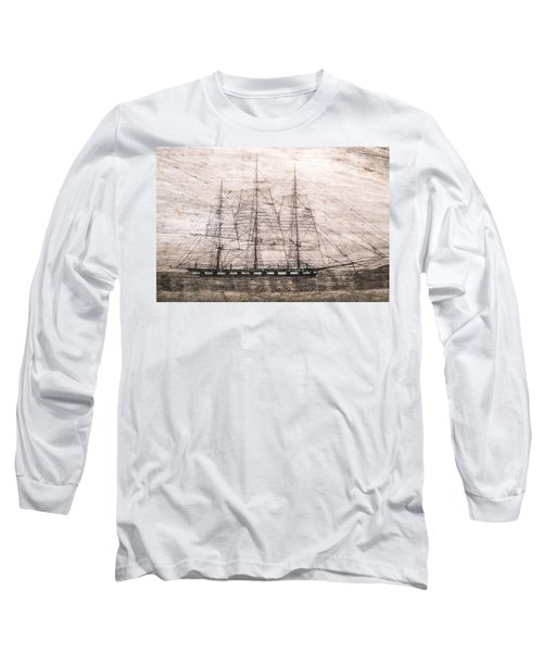 Scrimshaw Whale Panbone Long Sleeve T-Shirt