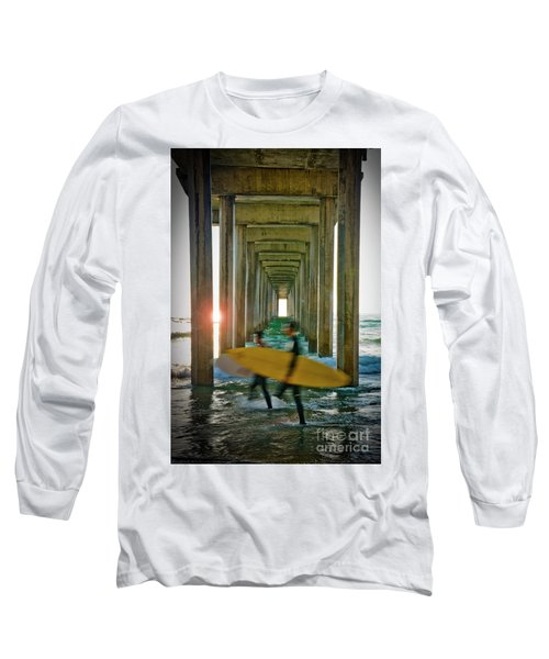 Scripps Pier Surfers Long Sleeve T-Shirt