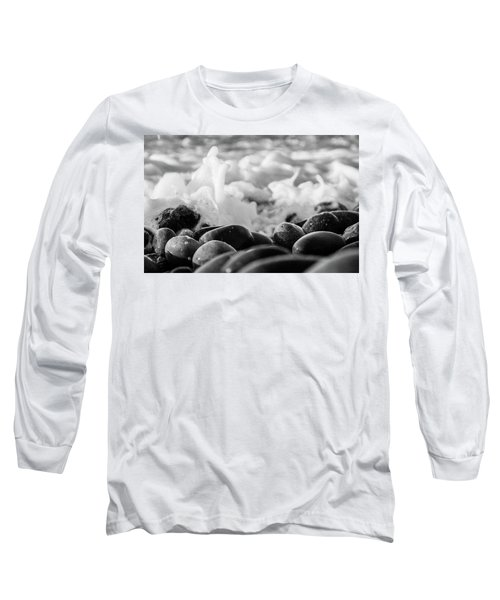 Sea Foam B-w Long Sleeve T-Shirt by Sergey Simanovsky