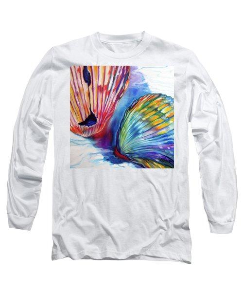 Sea Shell Abstract II Long Sleeve T-Shirt by Marcia Baldwin