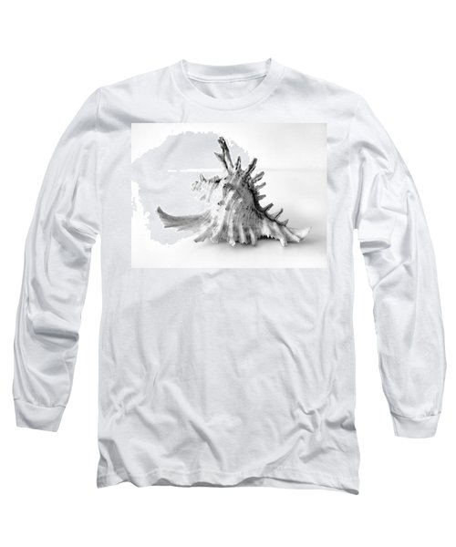 Long Sleeve T-Shirt featuring the photograph Sea Shell by Gina Dsgn