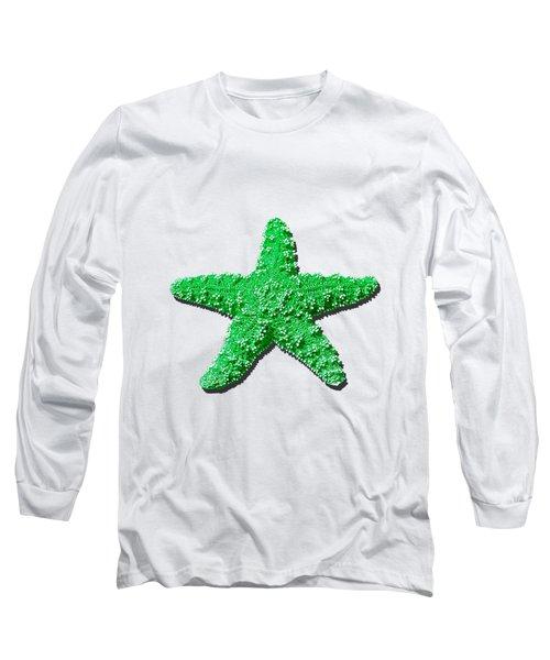 Sea Star Green .png Long Sleeve T-Shirt