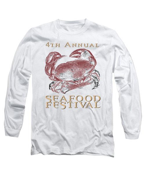 Long Sleeve T-Shirt featuring the digital art Seafood Festival Tee by Edward Fielding