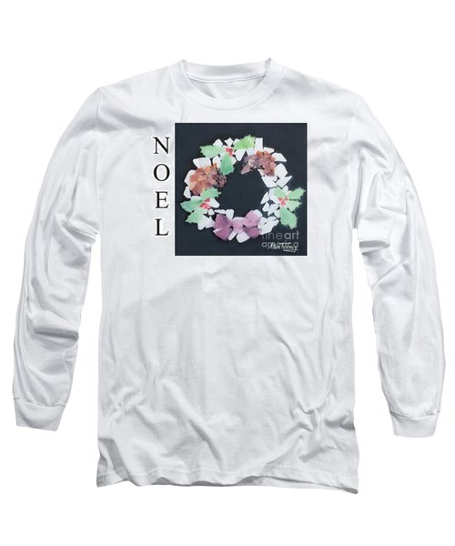 Long Sleeve T-Shirt featuring the painting Seaglass Wreath by Stan Tenney